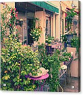 French Floral Shop Acrylic Print