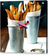 French Fries Fly-by Acrylic Print by Snake Jagger