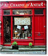 French Gift Shop Acrylic Print