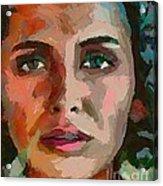 French Gypsy Girl Acrylic Print