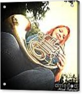 French Horn Below Acrylic Print