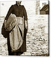French Lady With A Very Large Bread France 1900 Acrylic Print