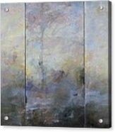 French Landscape Triptych Acrylic Print