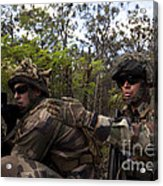 French Marines Scout Ahead Of A Patrol Acrylic Print