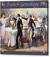 French New Year With Fgb Border Acrylic Print