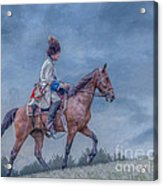 French Officer On Horse Grand Encampment  Acrylic Print
