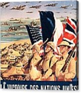 French Propaganda Poster Published In Algeria From World War II 1943 Acrylic Print