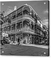 French Quarter Afternoon Bw Acrylic Print by Steve Harrington
