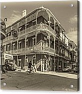 French Quarter Afternoon Sepia Acrylic Print