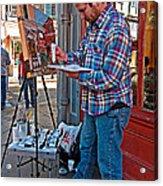 French Quarter Artist Acrylic Print by Steve Harrington