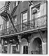 French Quarter Flair Bw Acrylic Print