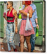 French Quarter - Party Time Acrylic Print