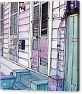 French Quarter Stoop 213 Acrylic Print by John Boles