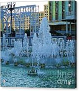 French Quarter Water Fountain Acrylic Print