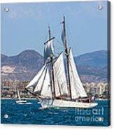 French Shooner Alicante Acrylic Print