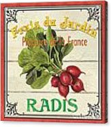 French Vegetable Sign 1 Acrylic Print by Debbie DeWitt