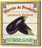 French Vegetable Sign 3 Acrylic Print by Debbie DeWitt