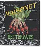 French Veggie Labels 2 Acrylic Print by Debbie DeWitt