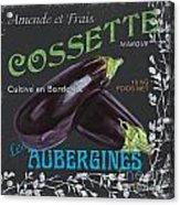 French Veggie Labels 4 Acrylic Print