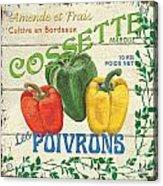 French Veggie Sign 4 Acrylic Print