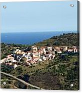 French Village By The Sea Acrylic Print