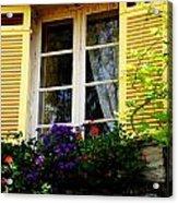 French Window Dressing Acrylic Print