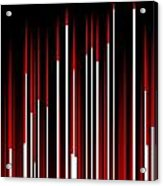 Frequency Red Acrylic Print