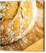 Fresh Baked Loaf Of Artisan Bread Acrylic Print