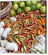Fresh Chili Peppers Acrylic Print