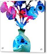 Fresh Cut - Vibrant Flowers Floral Painting Acrylic Print