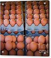 Fresh Eggs On A Street Fair In Brazil Acrylic Print