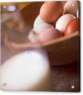 Fresh Eggs  Acrylic Print by Toni Hopper