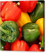 Fresh From The Market - Sweet Peper Mix Acrylic Print