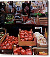 Fresh Fruits And Vegetables Acrylic Print
