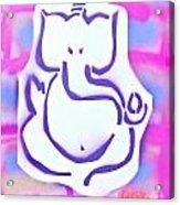 Fresh Ganesh 3 Acrylic Print by Tony B Conscious