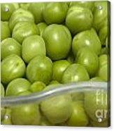 Fresh Green Peas Acrylic Print