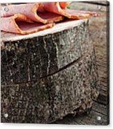 Fresh Ham Acrylic Print by Mythja  Photography