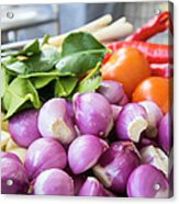 Fresh Ingredients For Cooking Chicken Curry Sauce Closeup Acrylic Print