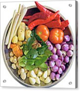 Fresh Ingredients For Cooking Curry Sauce Acrylic Print