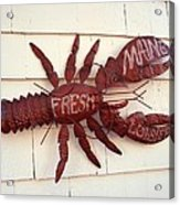 Fresh Maine Lobster Sign Boothbay Harbor Maine Acrylic Print