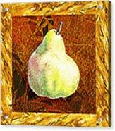 Fresh N Happy Pear Decorative Collage Acrylic Print