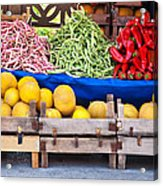 Fresh Organic Fruits And Vegetables At A Street Market Acrylic Print