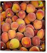 Fresh Peaches On A Street Fair In Brazil Acrylic Print by Ricardo Lisboa