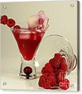 Fresh Raspberry Cosmos Delight Acrylic Print