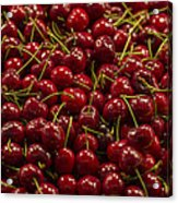 Fresh Red Cherries Acrylic Print