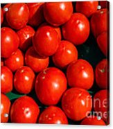 Fresh Ripe Red Tomatoes Acrylic Print