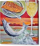Fresh Salmon Dinner Acrylic Print