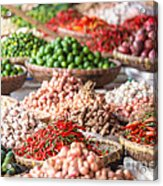 Fresh Vegetables At Local Market Acrylic Print