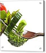 Fresh Vegetables On A Fork Acrylic Print