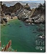 Fresh Water Into The Bay Acrylic Print by Adam Jewell